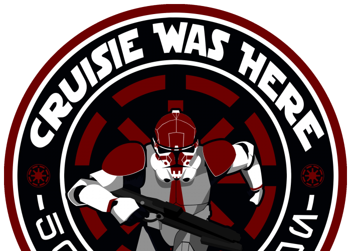 501st Patch 2x2 Red CruisieWasHere